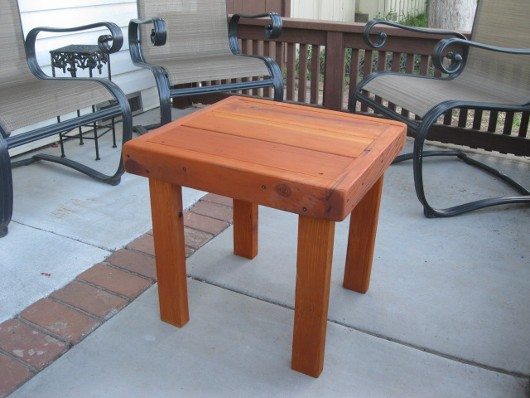 A table I built last week for my porch