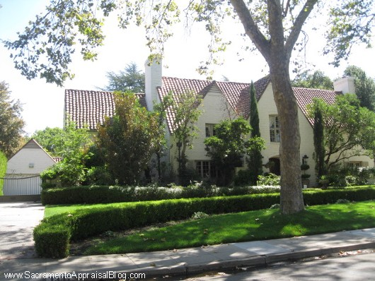 Ronald Reagan's House in the Fabulous 40s in Sacramento - photo by Sacramento Appraisal Blog