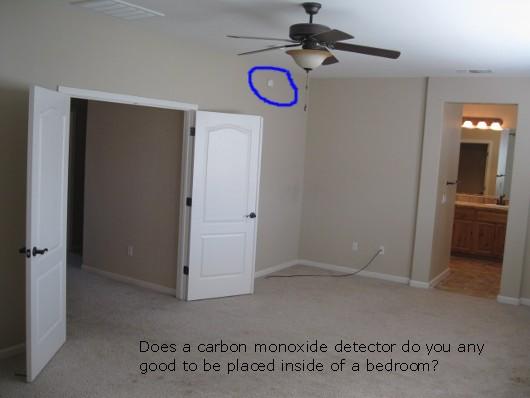 Carbon monoxide detector inside of a bedroom - Sacramento Appraisal Blog