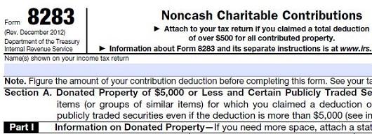 IRS form 8283 - Sacramento Appraisal Blog