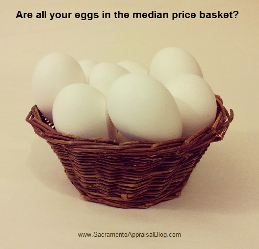Eggs in the median price basket - photo by Sacramento Appraisal Blog
