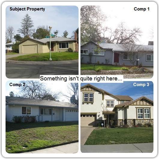 Which house is NOT comparable - by Sacramento Appraisal Blog
