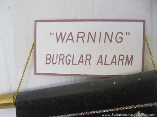 warning sign quotation marks