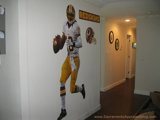 NFL on the wall - RG3 - by Sacramento Appraisal Blog