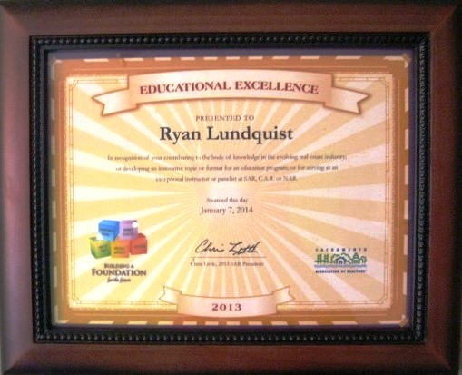 sar award for ryan lundquist - january 2014