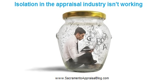 isolation in appraisal industry -image purchased by sacramento appraisal blog