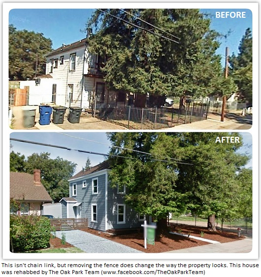 before and after rehab by The Oak Park Team - Sacramento Appraisal Blog
