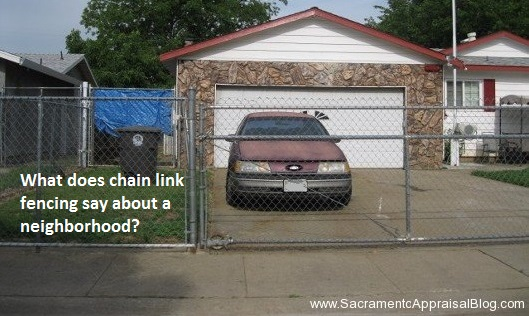 chain link fences and property value - by sacramento appraisal blog