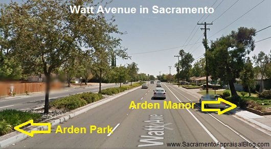 Watt Avenue street view