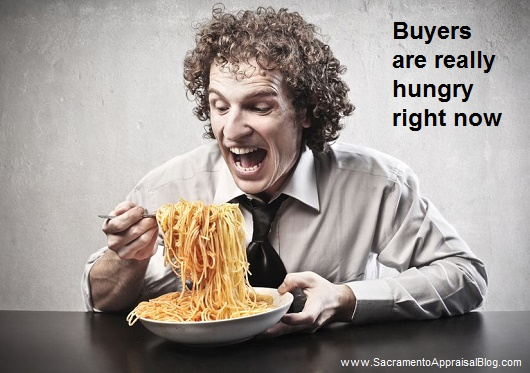 Hungry buyers - image purchased and used with permission by Sacramento Appraisal Blog