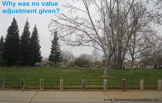no value adjustment given - sacramento appraisal blog