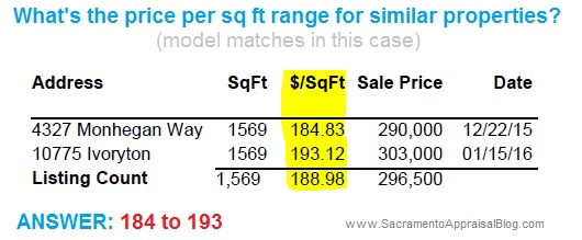 1569 model in mather - price per sq ft - sacramento appraisal blog
