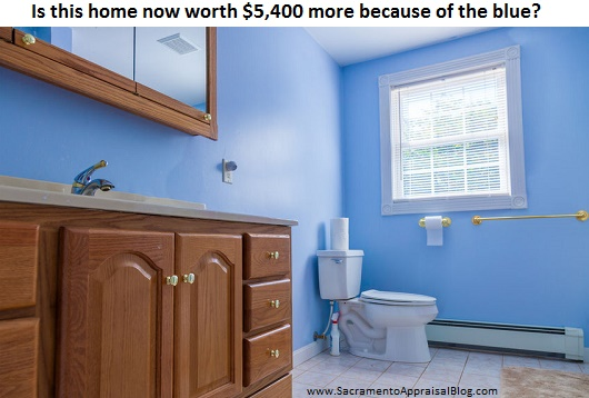 Blue Bathrooms bad real estate advice & blue bathrooms | sacramento appraisal