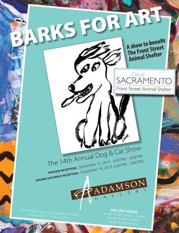"""""""Barks for Art"""" flyer"""