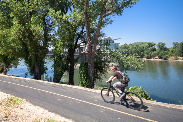 Bicycling on the Sacramento River