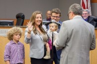 Council Member Angelique Ashby, Mayor Pro Tem, is sworn into office.