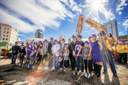 The Entertainment & Sports Center officially breaks ground on a sunny day in Sacramento.