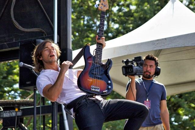 Guitarist Nick Fotinakes of Night Riots.