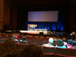 Picture of TEDxSacramento stage prior to event