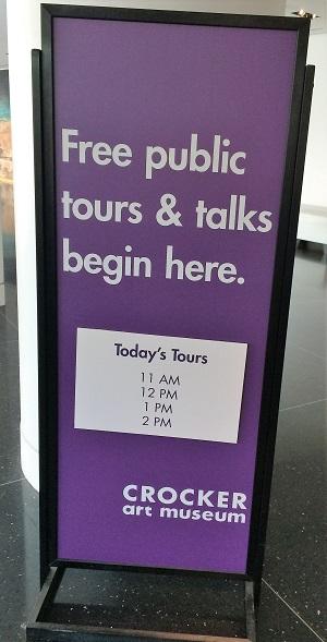 Crocker Art Museum Sign