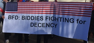 Sacramento Women's March Biddie Banner