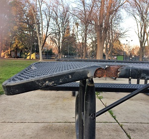 Picture of McKinley Park metal picnic table