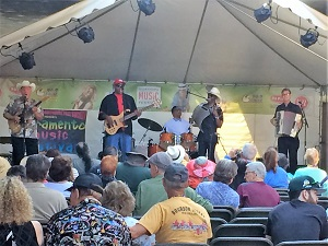 Picture of Zydeco Flames band at the Sacramento Music Festival