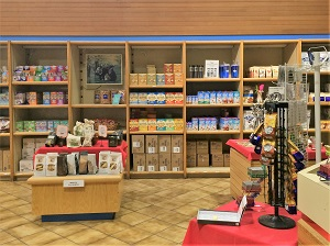 Picture of interior of Blue Diamond Growers Nut and Gift Shop