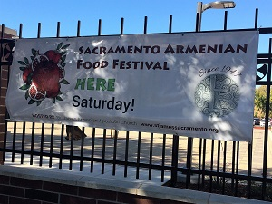 Picture of Armenian Food Festival signage