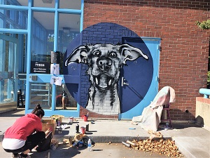 Picture of art created at the Street Art Mural Jam