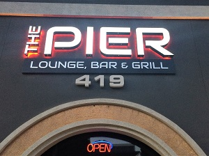Picture of the Pier Lounge, Bar & Grill Signage