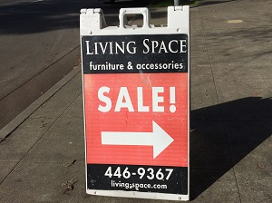 Picture of Living Space Sale Sign