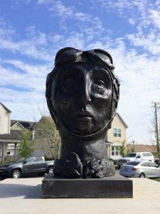 Photo of Helen Post bronze McKinley Village Art Walk