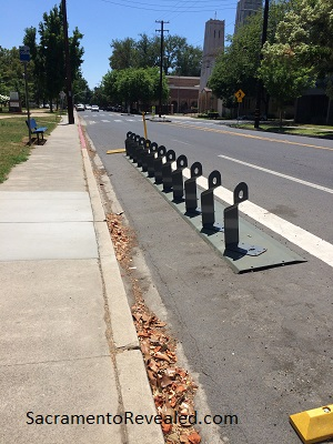 Photo of empty JUMP Bikes bike rack