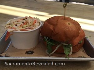 Photo of Urban Roots Smoked Fish Sandwich & Coleslaw