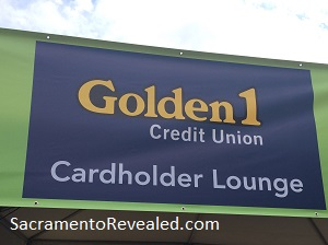 Photo of Sacramento Farm-to-Fork Festival Golden I Cardholder Lounge Sign
