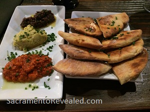 Photo of Alaro Craft Brewery Trio of Dips & Yogurt Flatbread