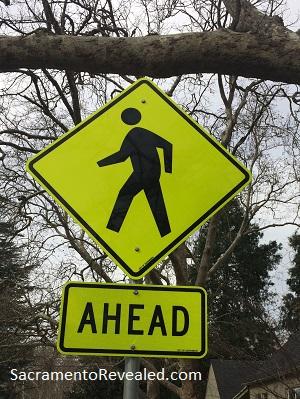 Photo of Crosswalk Ahead Sign - Dangerous by Design