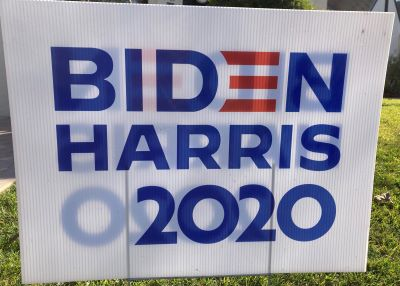 Photo of Biden/Harris Sign - 2020 in Sacramento