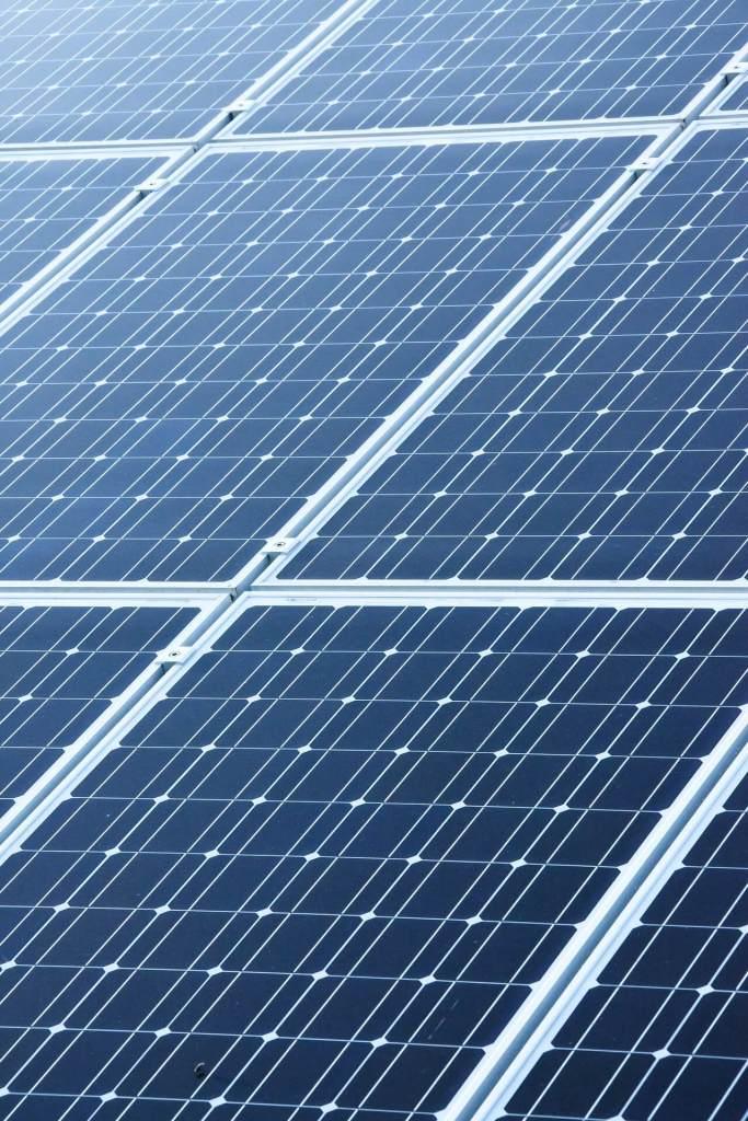 solar panels arranged diagonally