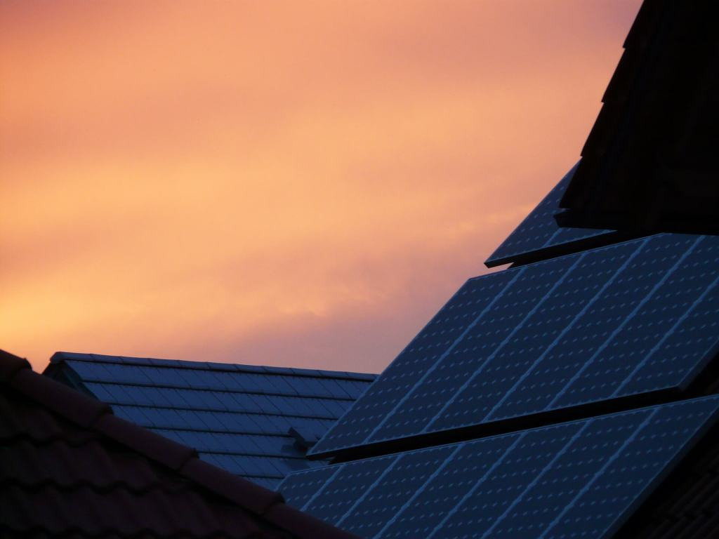 solar panels installed on the roof