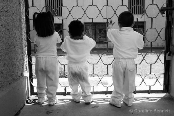 Children of prisoners in Santa Martha prison, Mexico, from a photoessay by Caroline Bennett.