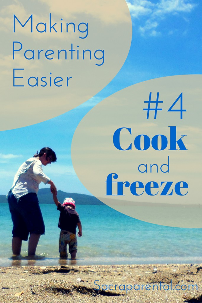 This has changed my life! Cook big meals, freeze them, and serve through the week.   Sacraparental.com