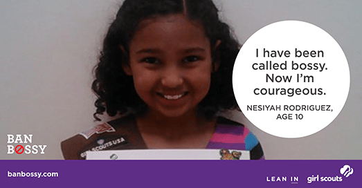 From the Ban Bossy campaign, and heaps more in this post about subtly sexist language   Sacraparental.com