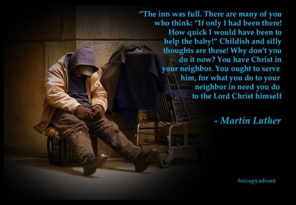 Martin Luther quotation via Occupy Advent | Sacraparental.com