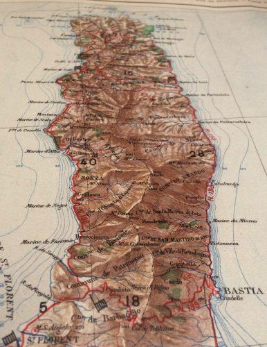 Carte non datée du Service géographique de l'armée