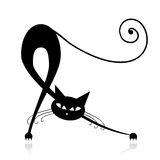 silhouette-gracieuse-de-chat-noir-pour-votre-conception-16494227