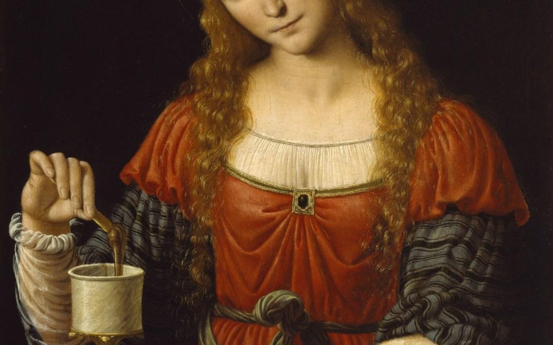 Mary Magdalene | Spiritual Teacher | Red Rose Petals | Amrita Grace