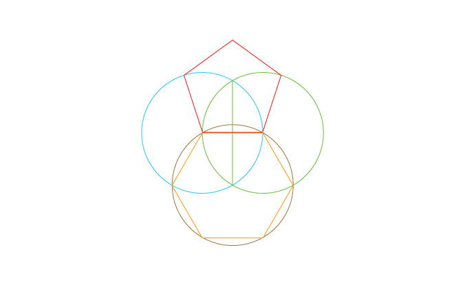 The reconciliation of six and five and many of the other objects of sacred geometry may be achieved by means of the figure known as the vesica piscis