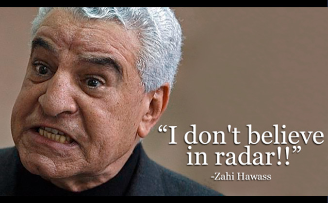 Image result for zahi hawass radar